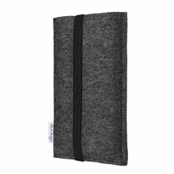 faire Smartphone Tasche online kaufen: vegane Schutzhülle COIMBRA mit Gummiband (schwarz)